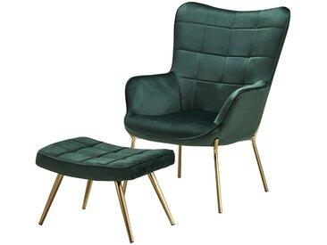 Sessel mit Hocker  Annika ¦ grün
