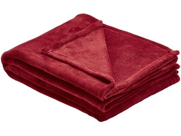 HOME STORY Coralfleecedecke  Emely ¦ rot ¦ 100% Polyester,