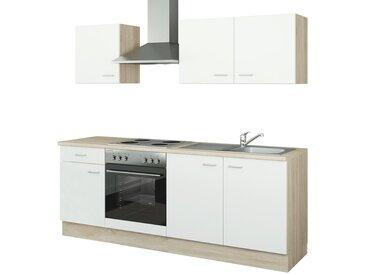 uno Küchenzeile mit Elektrogeräten  Halle ¦ weiß ¦ Maße (cm): B: