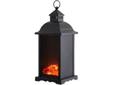 Basispreis* LED-Laterne schwarz mit Flammenoptik ¦ schwarz ¦ Maße