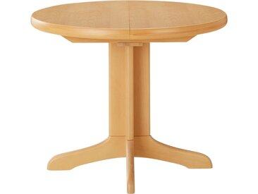 Basispreis* Runder Säulentisch ausziehbar  Cristal ¦ holzfarbenØ: