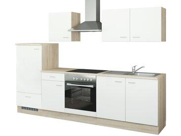 uno Küchenzeile mit Elektrogeräten  Mainz ¦ weiß ¦ Maße (cm): B: