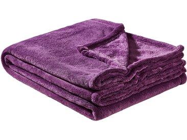 HOME STORY Coralfleecedecke  Emely ¦ lila/violett ¦ 100%