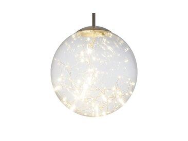 Basispreis* LED-Glaspendelleuchte mit Lichterkette ¦ silber ¦