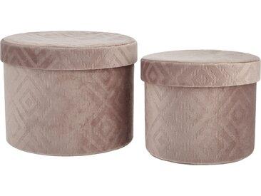 Basispreis* Aufbewahrungsbox, 2er-Set ¦ rosa/pink ¦ Karton,