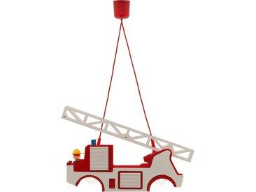 Pendelleuchte Feuerwehr Holz ¦ mehrfarbig ¦ Maße (cm): B: 11 H: