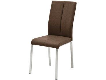 Basispreis* Kunstleder-Stuhl  Caneva ¦ braun