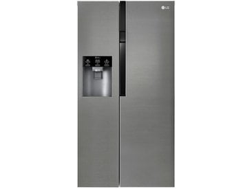 LG Electronics Side by Side  GSL 361 ICEZ ¦ silber ¦ Metall, Glas