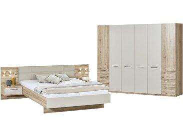 uno Komplett-Schlafzimmer, 4-teilig   Paris ¦ holzfarben ¦ Maße