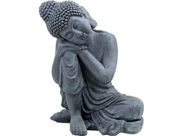 Deko-Buddha ¦ grau ¦ Magnesia ¦ Maße (cm): B: 46 H: 56 T: 40