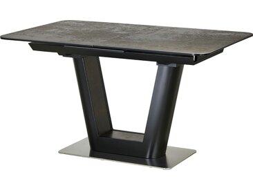 Basispreis* uno Glassäulentisch ausziehbar  Dusk ¦ schwarz ¦ Maße