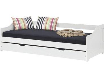 Sofabett mit Ausziehbett 90x200 - weiß Leonie ¦ weiß ¦ Maße (cm):