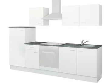 uno Küchenzeile ohne Elektrogeräte  Kiel ¦ weiß ¦ Maße (cm): B: