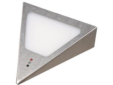 kalb |  LED Unterbauleuchten Dreieck mit Sensor - Dimmer Einbaustrahler Einbauspot Edelstahl gebürstet