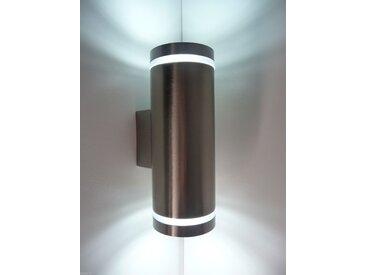 kalb | LED 2x3W Wandleuchte Wandlampe Aussenleuchte Aussenlampe UP&DOWN EDELSTAHL GU10