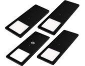 LED Unterbauleuchten schwarz 5W- sehr flache Küchenleuchte mit Touch-Dimmfunktion Einbaustrahler Einbauspot