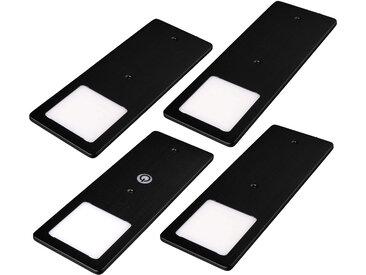 kalb |  LED Unterbauleuchten schwarz 5W- sehr flache Küchenleuchte mit Touch-Dimmfunktion Einbaustrahler Einbauspot