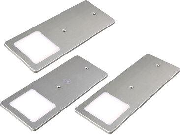 kalb |  LED Unterbauleuchten silber 5W- sehr flache Küchenleuchte mit Touch-Dimmfunktion Einbaustrahler Einbauspot