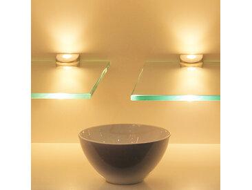 kalb | LED Glasregal Wandpaneel Hängeregal Wandboard Wandregal Regal beleuchtet