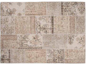 Vintage-Off-White Teppich Patchwork Entwurfs-handgemachte in der Türkei Recolored-