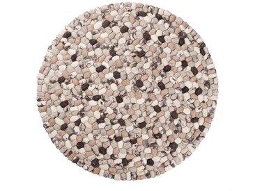 Ausverkauf 50%: Runde Filzteppiche, Beige Braun, Steinteppiche-