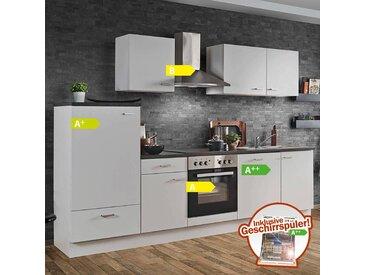 Küche White Classic LIVERPOOL-87 inklusive E-Geräte & Geschirrspüler 280cm