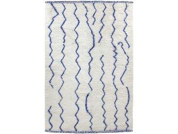 HK living Woolen Organic Cobalt Berber Teppich