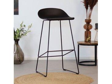 Livin24 Barhocker Ellen skandinavisches Design schwarz 76 cm
