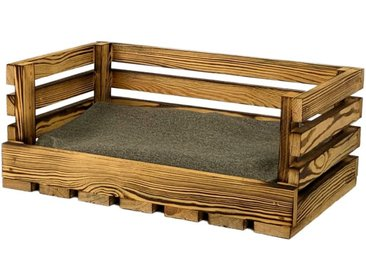 animal-design Haustiersofa aus geflammtem Holz mit kuscheligem Kissen, für Katzen und kleine Hunde