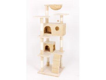 animal-design Kratzbaum MAX Kletterturm für Katzen Katzenbaum ca. 150 cm Höhe beige braun