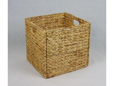 animal-design Regalbox Regalkorb QUADER Wasserhyazinthe Aufbewahrungsbox - passend für Ikearegal Kallax