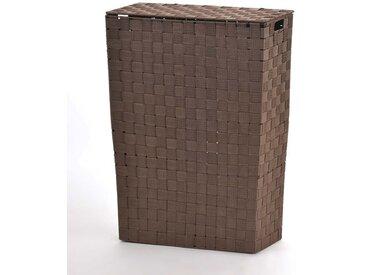 NISCHENWÄSCHEKORB - BRAUN - Wäschesammler Wäschesortierer Wäschekorb Stoff geflochten Korb