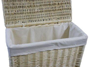 animal-design Wäschekorb Weide weiss Wäschesammler Wäschebox Wäschetruhe Nischenwäschekorb