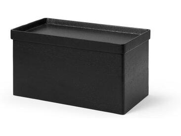 Clover Brotbox, schwarz gebeiztes Akazienholz