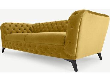 Sloan 3-Sitzer Sofa, Samt in Vintage-Gold