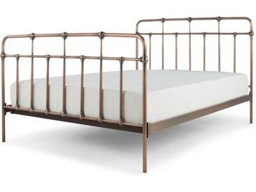 Starke Metallbett (140 x 200 cm), Kupfer