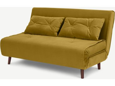 Haru grosses Schlafsofa, Samt in Vintage-Gold
