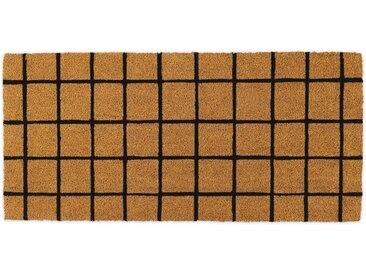 Roel extralange Fussmatte (50 x 110 cm), Natur und Schwarz