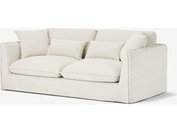 Kasiani 3-Sitzer Sofa, Cremeweiss