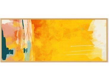 Sunny Abstract by Ana Rut Bre gerahmter Kunstdruck (40 x 100 cm), Orange