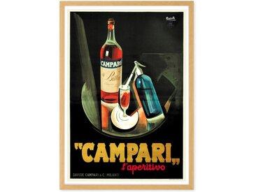 Campari Vintage Drinks Framed A1 Wall Art Print, Multi