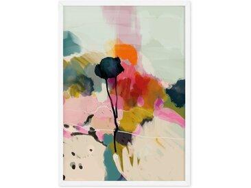 Abstract Landscape Floral Print gerahmter Kunstdruck (A1), Mehrfarbig