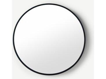 Bex runder Spiegel (76 cm), Schwarz