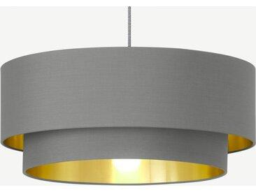 Oro Lampenschirm, Grau und Messing