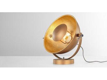Chicago Tischlampe, Kupfer und Gold