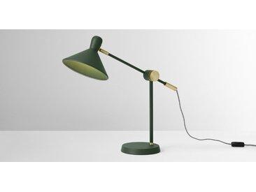 Ogilvy Tischlampe, Gruen und Antik-Messing