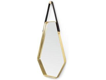 Cora grosser Spiegel (45 x 100 cm), Schwarz und Gold