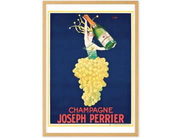 Champagne Vintage Drinks Framed Wall Art Print (More Sizes Available)