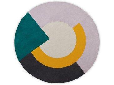 Ringa runder Teppich (200 cm), Mehrfarbig