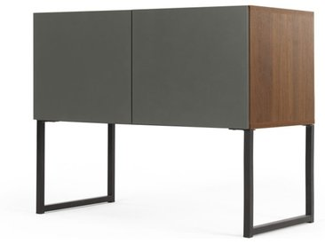 MADE Essentials Hopkins Sideboard, Walnuss-Finish und Grau